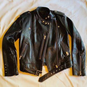 IRO Zaki Black Leather Biker Jacket (Size 2)